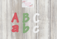 Self Adhesive Felt Letters/Numbers 4-5 cm, Set Of 5