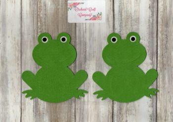 Felt Frogs x 2, Self Adhesive Felt.