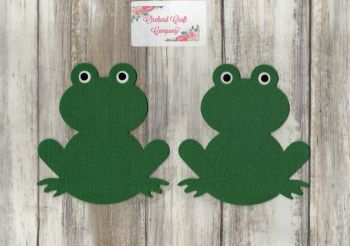 Fabric Iron On  Frogs x 2