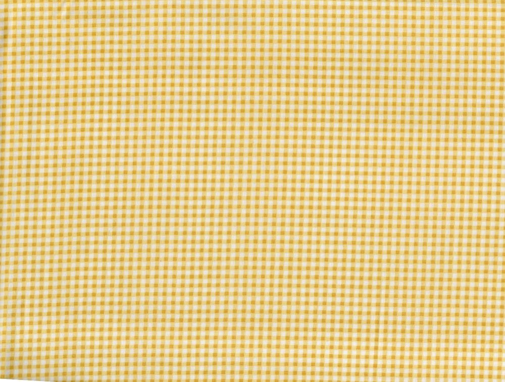 Yellow and White Small Check