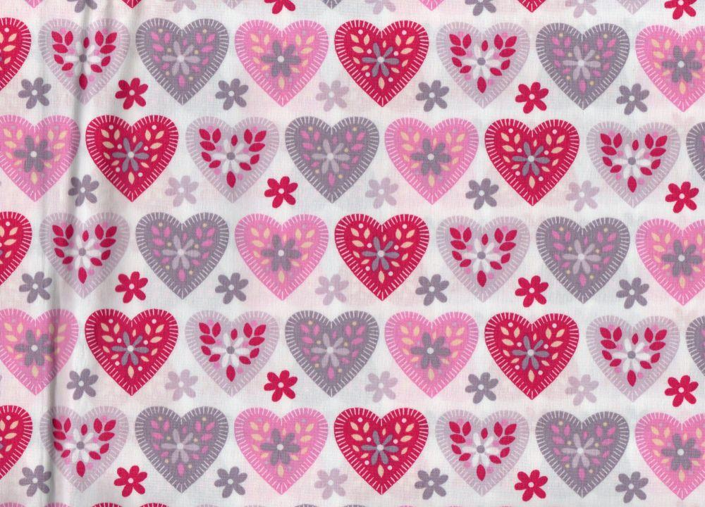 Pink and Grey Hearts