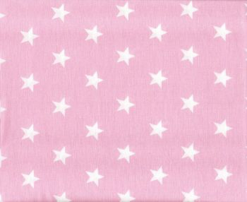 White stars with light pink background