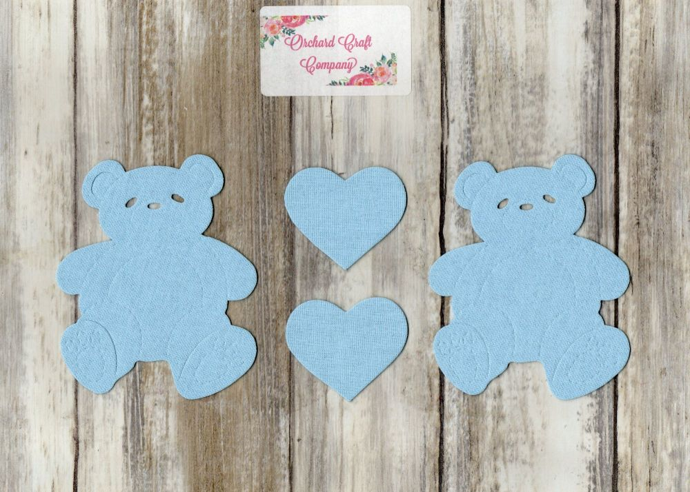 Fabric Iron On Teddy Bear Appliques. Plain Colours