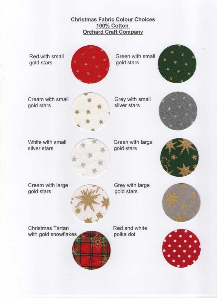 FabricChristmas Colours