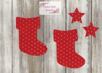 Christmas Stockings  set of 2,  Iron On Fabric