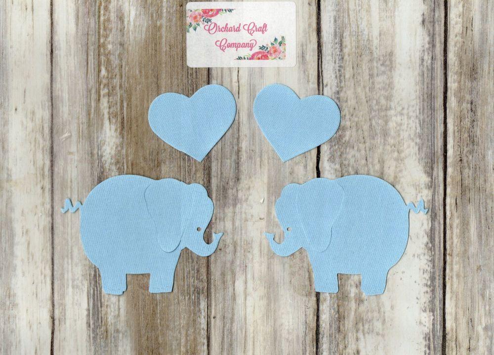 Fabric Iron on Elephants, Plain Colours