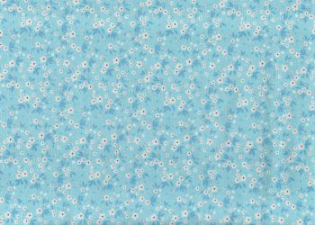Light Blue Ditsy Floral fabric