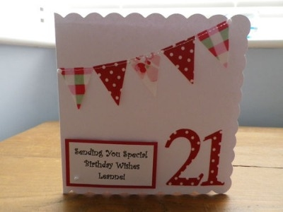 Personalised Bunting Birthday Card