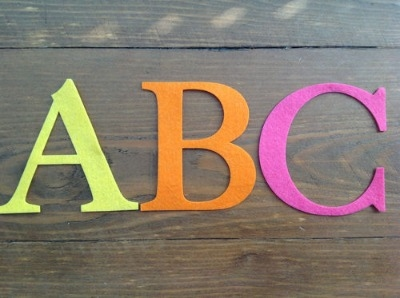2 x Large Felt 10cm Letters or Numbers
