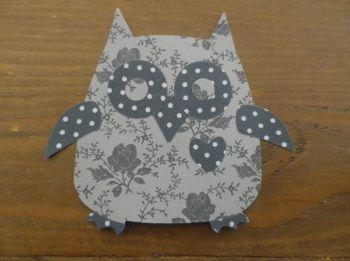 Iron on Fabric Owl Applique