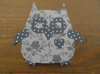 Iron on Fabric Owl Applique