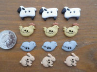 Dress It Up Buttons - COUNTRY CRITTERS