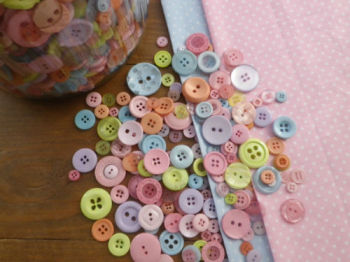 Mixed ICE CREAM PASTEL BUTTONS - 75g