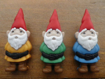 Dress It Up Buttons - 3 x GARDEN GNOMES