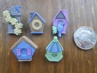 Dress It Up Buttons - FEATHER NEST - Bird Houses