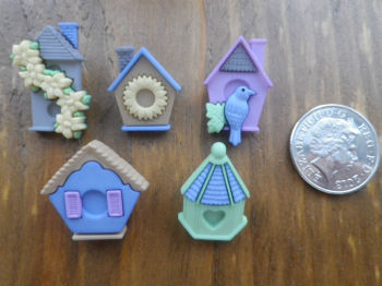 Dress It Up Buttons - FEATHER NEST - Bird Houses