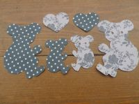 Fabric Iron On Koala Bears, Dotty/Floral