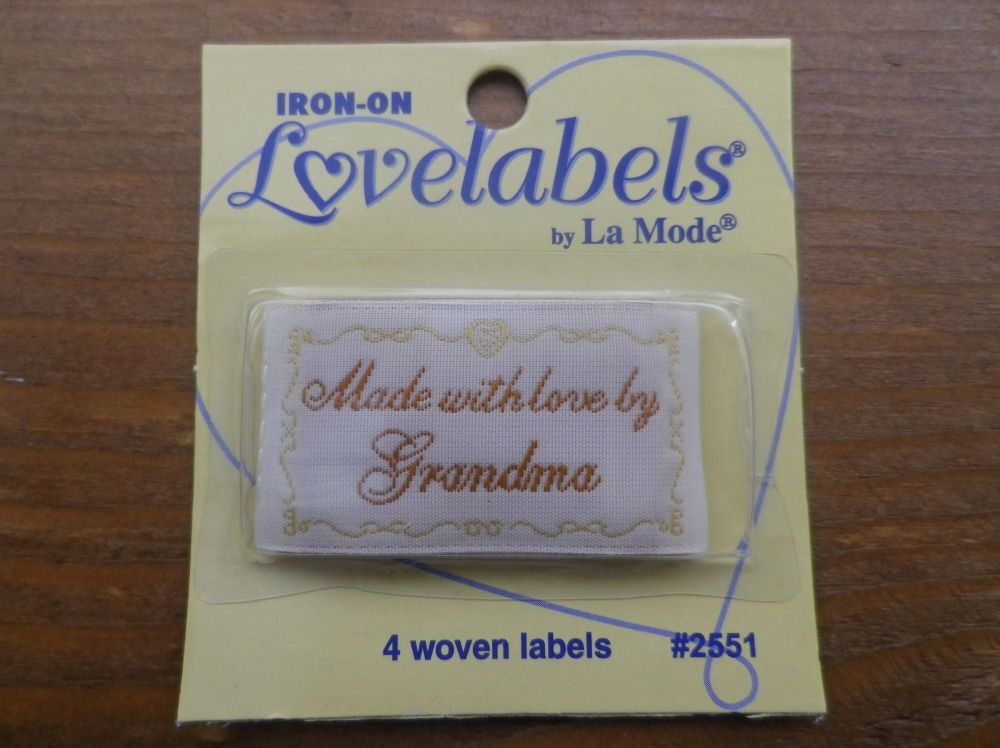 Love Labels by La Mode. Made With Love  by Grandma