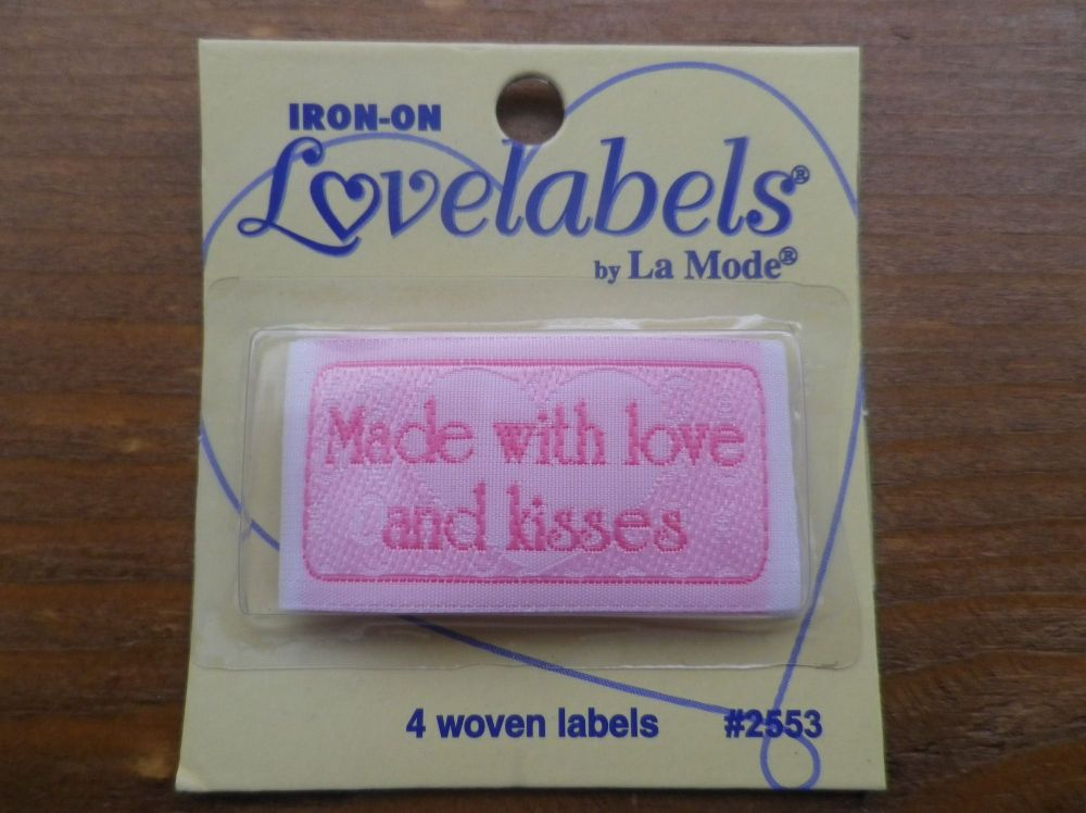 Love Labels, Made With Love And Kisses