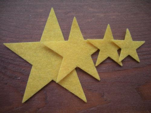 12 Quality Felt Stars (4 sizes)