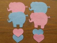 4 Felt Elephants