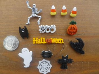 SPOOK - TACULAR, Halloween Craft Buttons