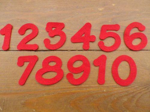 5cm Felt Numbers, 1 - 10