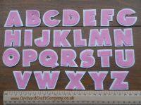 Felt Letters Full Alphabet  .Double Chunky, Pink and White