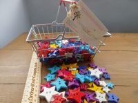 Star Shaped Buttons. Mixed Colours And Sizes.