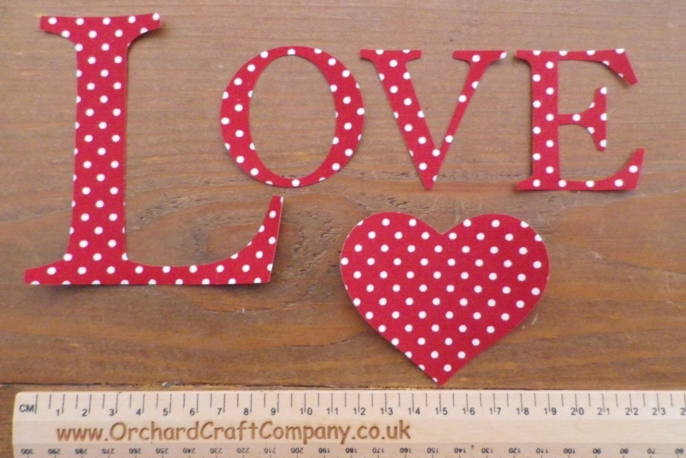 Love, Iron on fabric letters