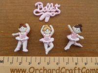 Dress It Up Little Ballerina Buttons