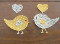 Iron On Fabric Love Birds