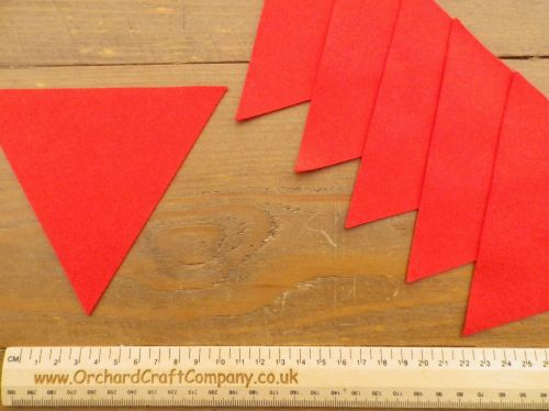 BUNTING FLAGS - Felt Triangle Flags x 6