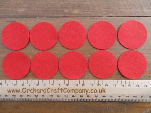 Self Adhesive Felt Circles - 12 Colours to choose from