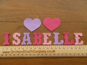 3 cm Quality UK made Vintage Font Felt Letters