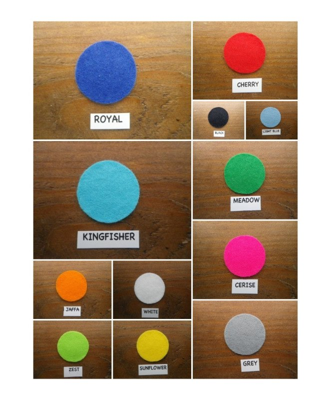self adhesive felt colours col