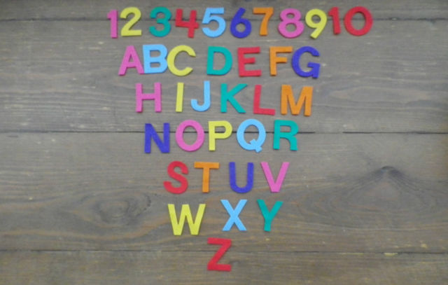 3cm Uppercase Numbers/Letters x 10