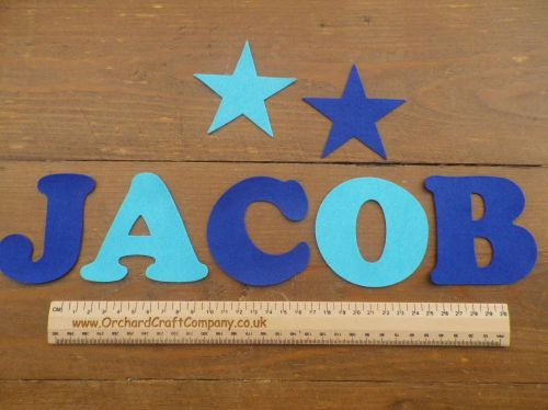 Large Felt Letters or Numbers (7.5cm) Quality Self Adhesive Felt, Choice of