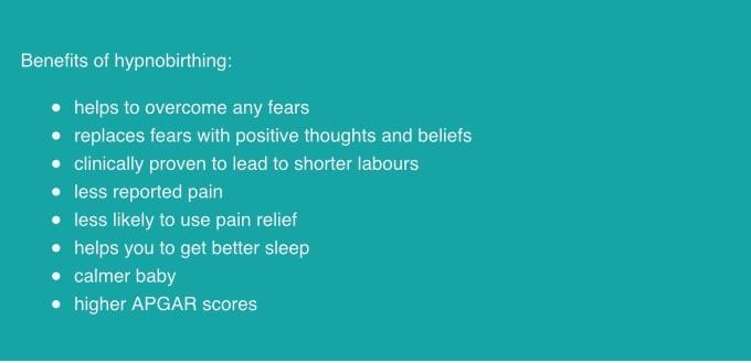 benefits of hypnobirthing