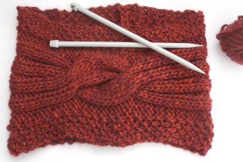 Chunky Cable stole Knitting pattern