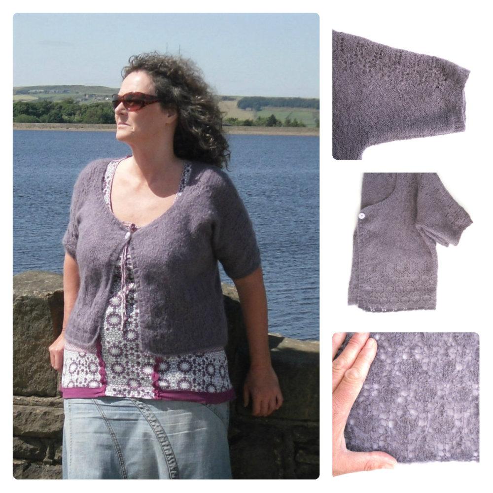 Knitting pattern for Lace Boxy Cardigan