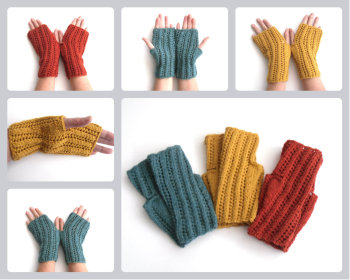 Alpaca / Wool Fingerless gloves , made to order