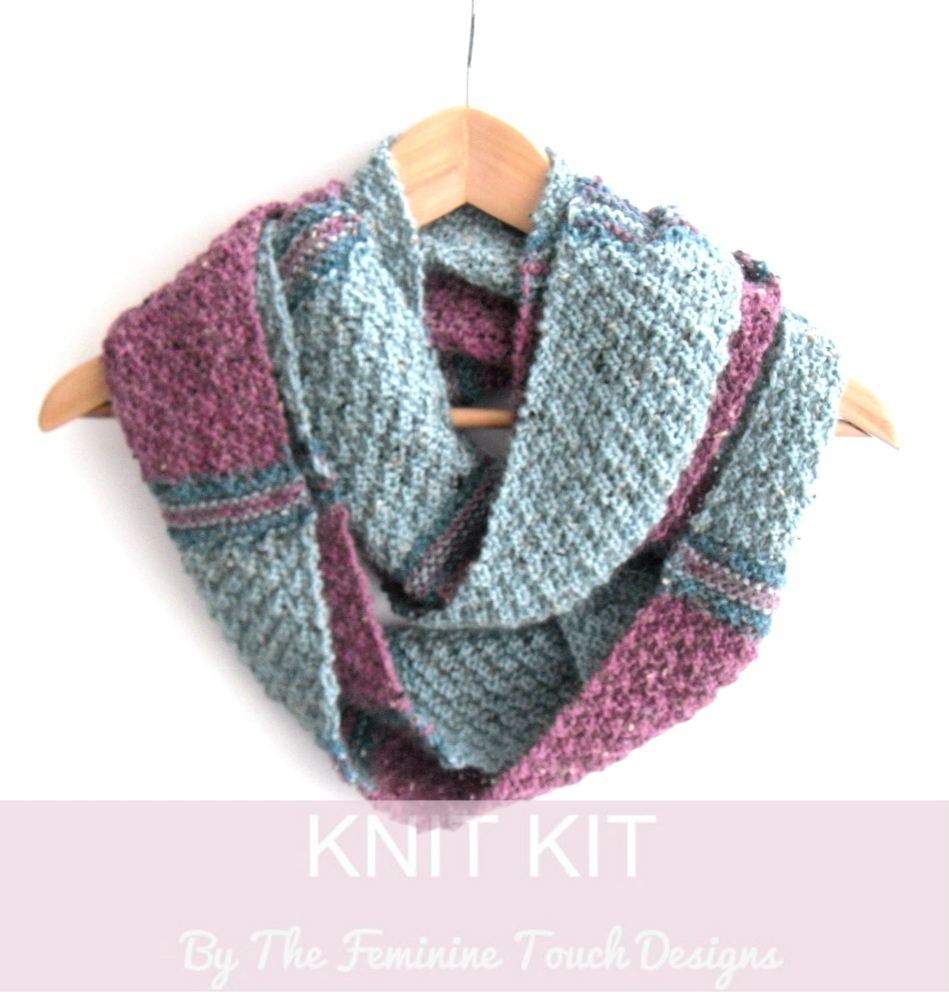 Knitting kit for LallyBrock Cowl