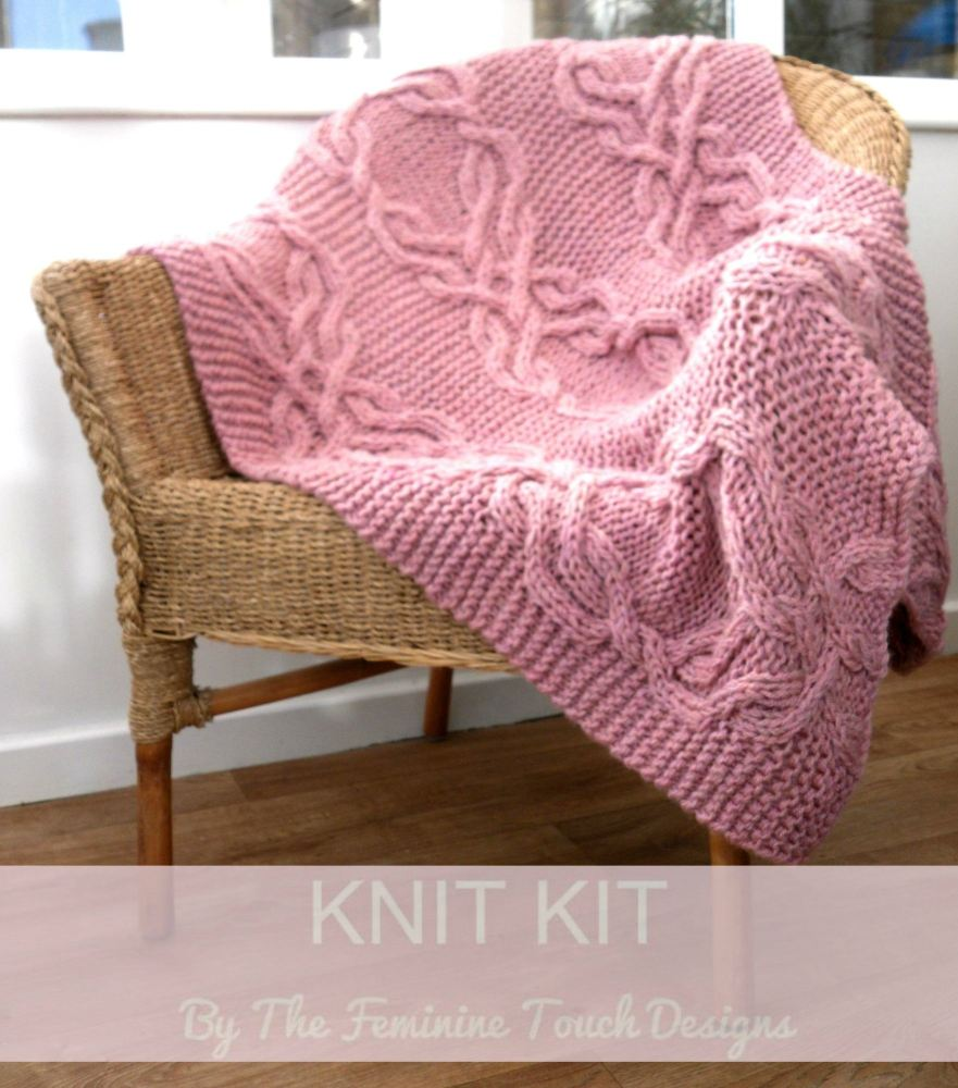 Knit your own Cable lap blanket