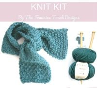 Luxury Wool Scarf Knit Kit    SALE