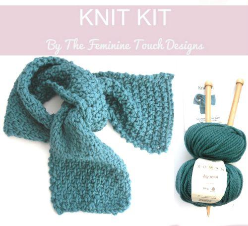 Luxury Wool Scarf Knit Kit