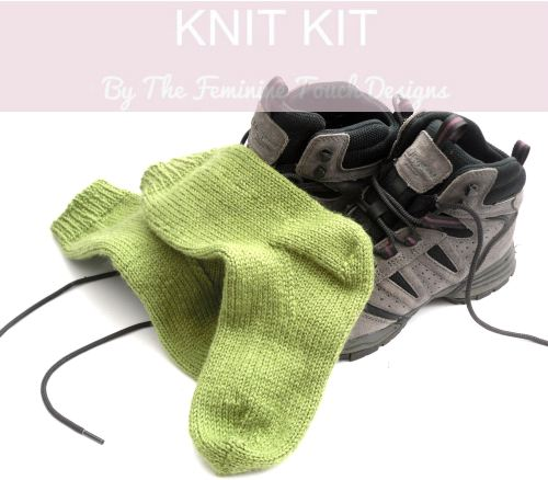 Easy Knit Walking socks knitting kit