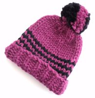 Pink Wool Beanie Hats   SALE