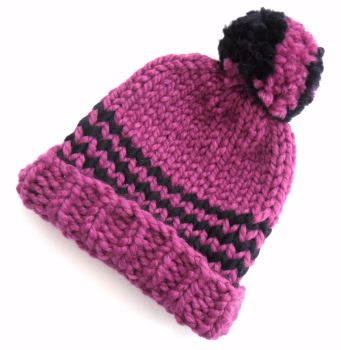 Pink Wool Beanie Hats