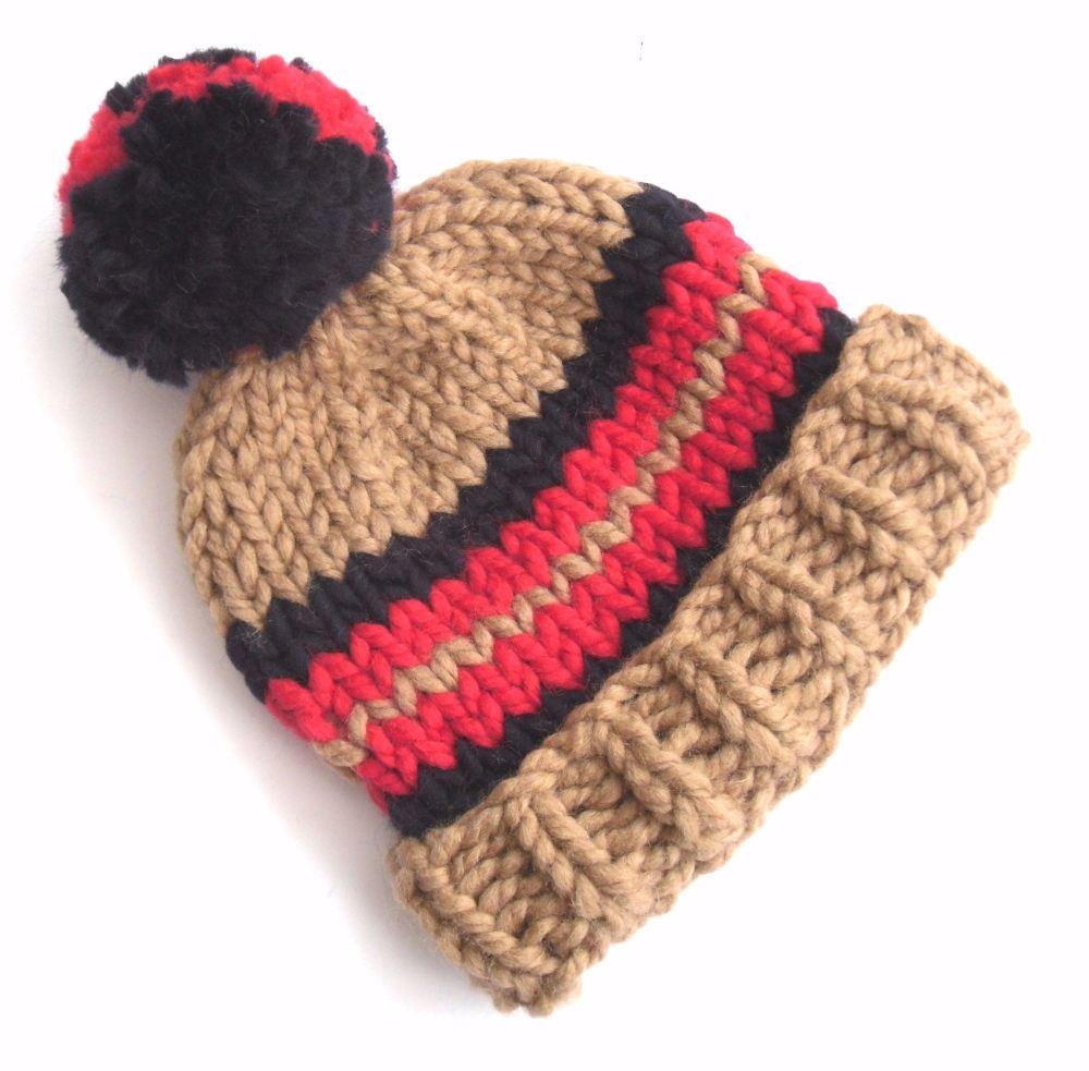Caramel Wool Beanie Hat